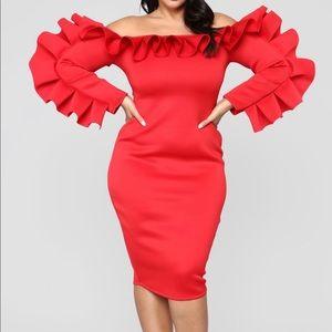 🔥Ruffle you in love dress midi dress🔥